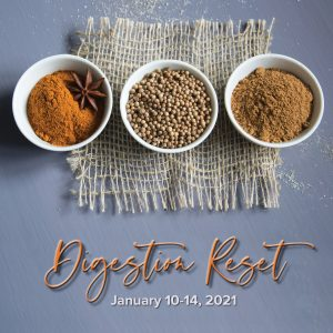 Ayurveda Cleanse Digestion Reset January 10-14, 2022 with Sage & Fettle Ayurveda and Angelina Fox, ERYT500, YACEP, Ayurveda Health Counselor and Yoga Teacher