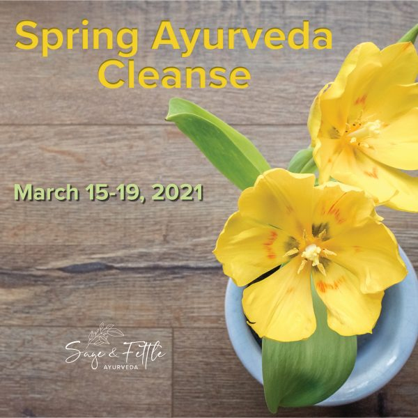 Spring Ayurveda Cleanse with Sage & Fettle Ayurveda and Angelina Fox March 15-19, 2021
